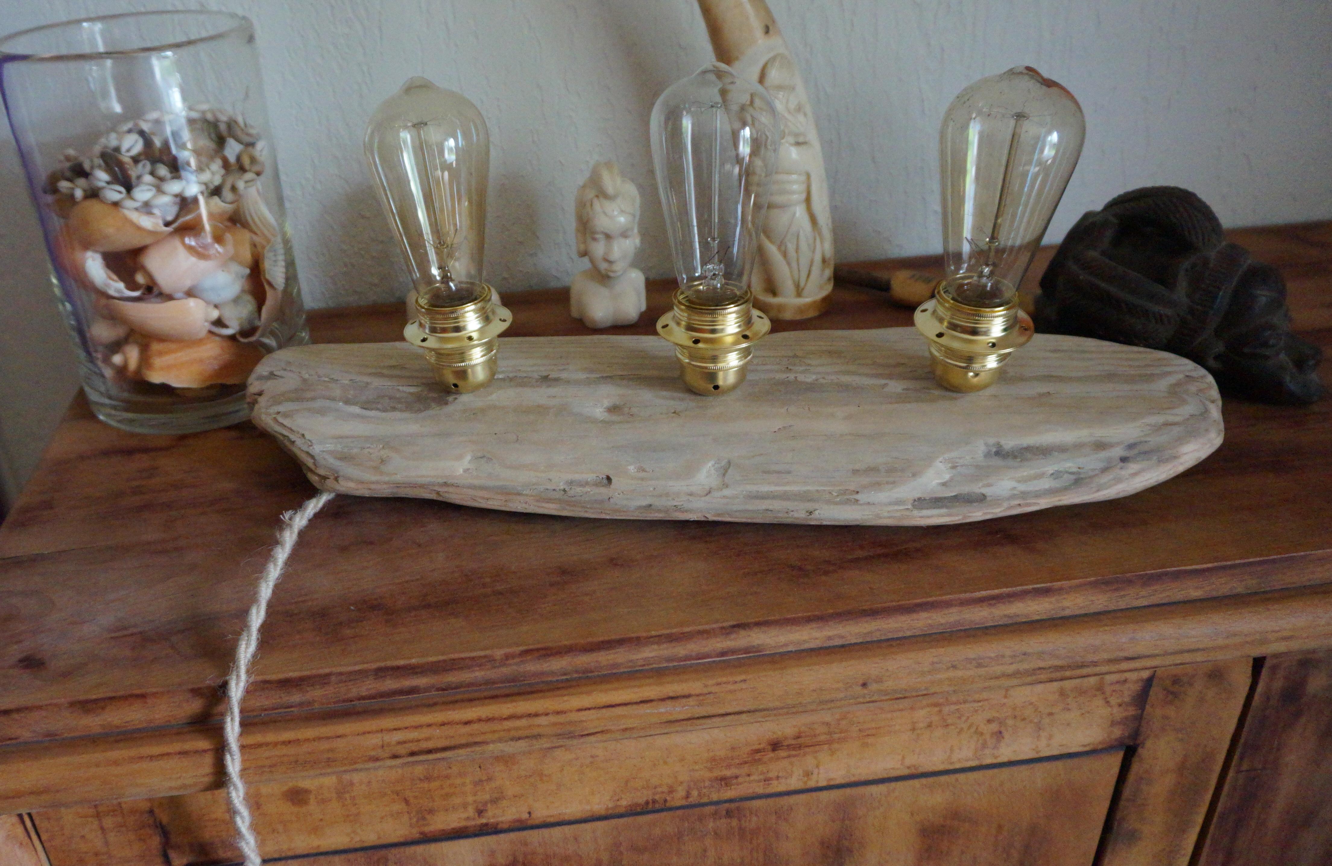 lampe poser bois flott 1 atelier rockup. Black Bedroom Furniture Sets. Home Design Ideas